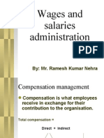 Wages and Salaries Presented By Mr. Ramesh Kumar Nehra