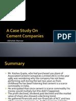 Cement Case Study
