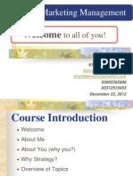 Orientation - Strategic Marketing Management