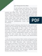 Sejarah Kedatangan Orang Jawa Ke Johor