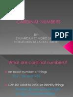 Group 7-Cardinal Numbers