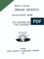 WISDOM OF THE EAST THE PERSIAN MYSTICS BY JALALU'D-DIN RUMI (TRANSLATED BY F. HADLAND DAVIS)