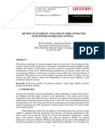 Review on Stability Analysis of Grid Connected Wind Power Generating System1
