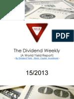 Dividend Weekly 15_2013