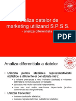 Analiza Datelor de Marketing Utilizand SPSS