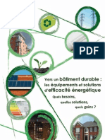 Guide - Vers Un Batiment Durable - Equipements Et Solutions d Efficacite Energetique - Sept 2011 - Basse Def