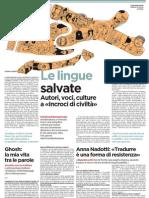 Le lingue salvate. Autori, voci, culture a «Incroci di civiltà» - L'Unità 18.04.2013