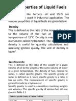 Properties of Liquid Fuel