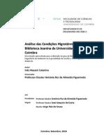 Análise das condições higrotérmicas na Biblioteca Joanina