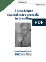 Ries Despre Greseala Branding