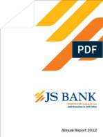 JS Bank Annual Report 2012