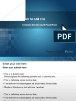 Blue Screen Ppt Templates