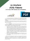 Brochure sur la Francophonie