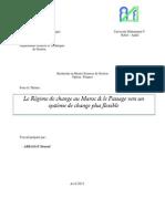 Le Régime de change au Maroc