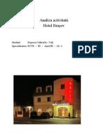Analiza Activitatii Hotel Brasov