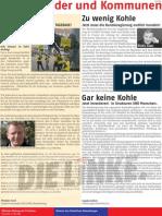 Anzeige DIE LINKE im Blickpunkt Februar 2009 (KW5)