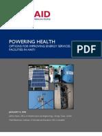 Powering Health Haiti