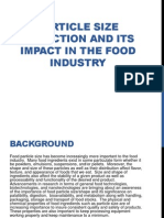 Particle Size Reduction and Its Impact in the Food Industry