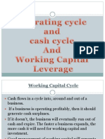 Operating Cycle and Cash Cycle and Wc Leverage