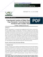 Experimental Analysis of Dilute Phase Pull Push 