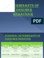 Determinants of Consumer Behaviour