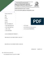 Formulir Pendaftaran Panitia Ppm 2013