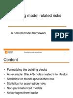 Quantifying Model Related Risks