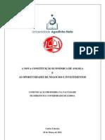 Teixeira, Carlos . Nova Constituição Economica de Angola