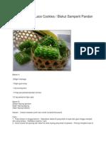 Pandan Green Lace Cookies