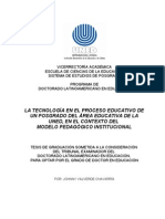 Tesis Doctoral La Tecnologia en El Proceso Educativo Del Posgrado Etc