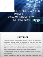 Securing Underwatre Wireless Communication Networks