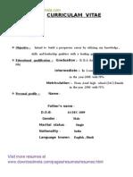 downloadmelacom bba fresher resume - Bca Resume Format For Freshers