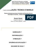 Palestra fertirrigação EAFA TO 1