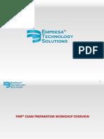 PMP Exam Prep_Workshop Overview v 1.0