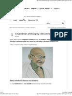 Is Gandhian Philosophy Relevant Today