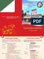 Platinum Jubilee Invitation of  St.Theres's Church, Kemmannu, Udupi District, Karnataka, India