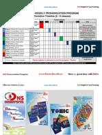Utf-8''Timeline for Pronunciation Program