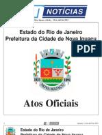 DIARIO OFICIAL DE Nova Iguaçu, sábado - 13 de abril de 2013