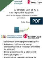 Studiu de Caz Despre o Adolescenta Cu Anxietate Generalizata - Andrei Chiscu, Psiholog
