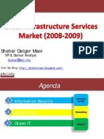 Shahar MAOR Infrastructure Services  Market 2009