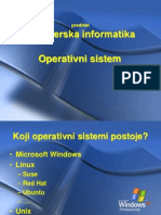 1. Operativni Sistem Windows