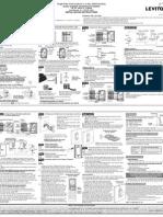 Leviton VRS05-1L Installation Manual