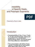 Compressibility, Ratio of Specific Heats, And