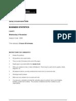 Business Statistics L2 Past Paper Series 4 2009