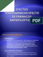 Efectos teratogenicos de Fármacos antiepilépticos