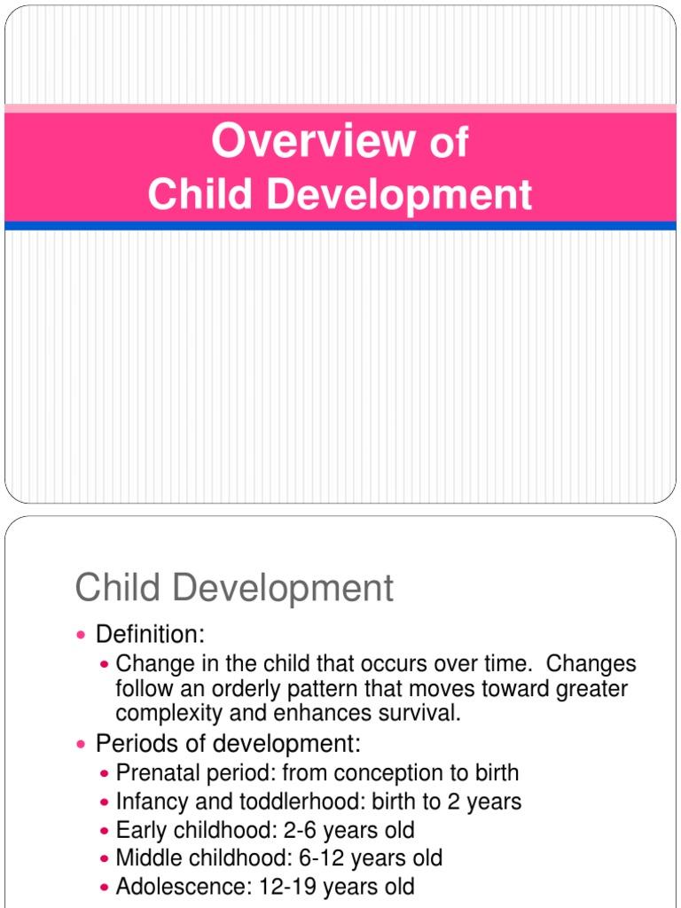 history of child development | child development | developmental