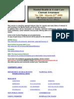Mental Health Bulletin No. 198 March 23rd 2009