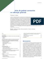 Anesthésie du patient coronarien en chirurgie générale