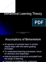 Behavioral Learning Theoryppt 7702