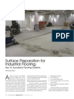 Article on 'Surface Preparation for Industrial Flooring' by Chaitanya Raj Goyal